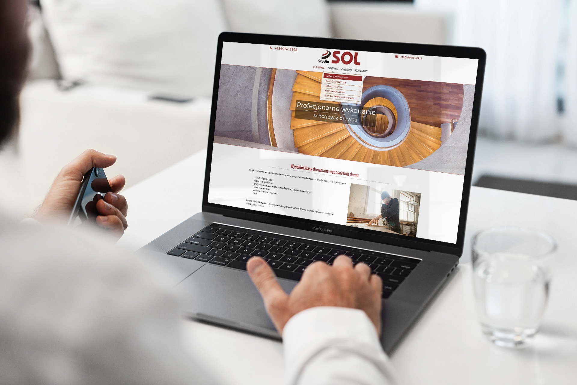 strona www dla producenta schodów drewnianych