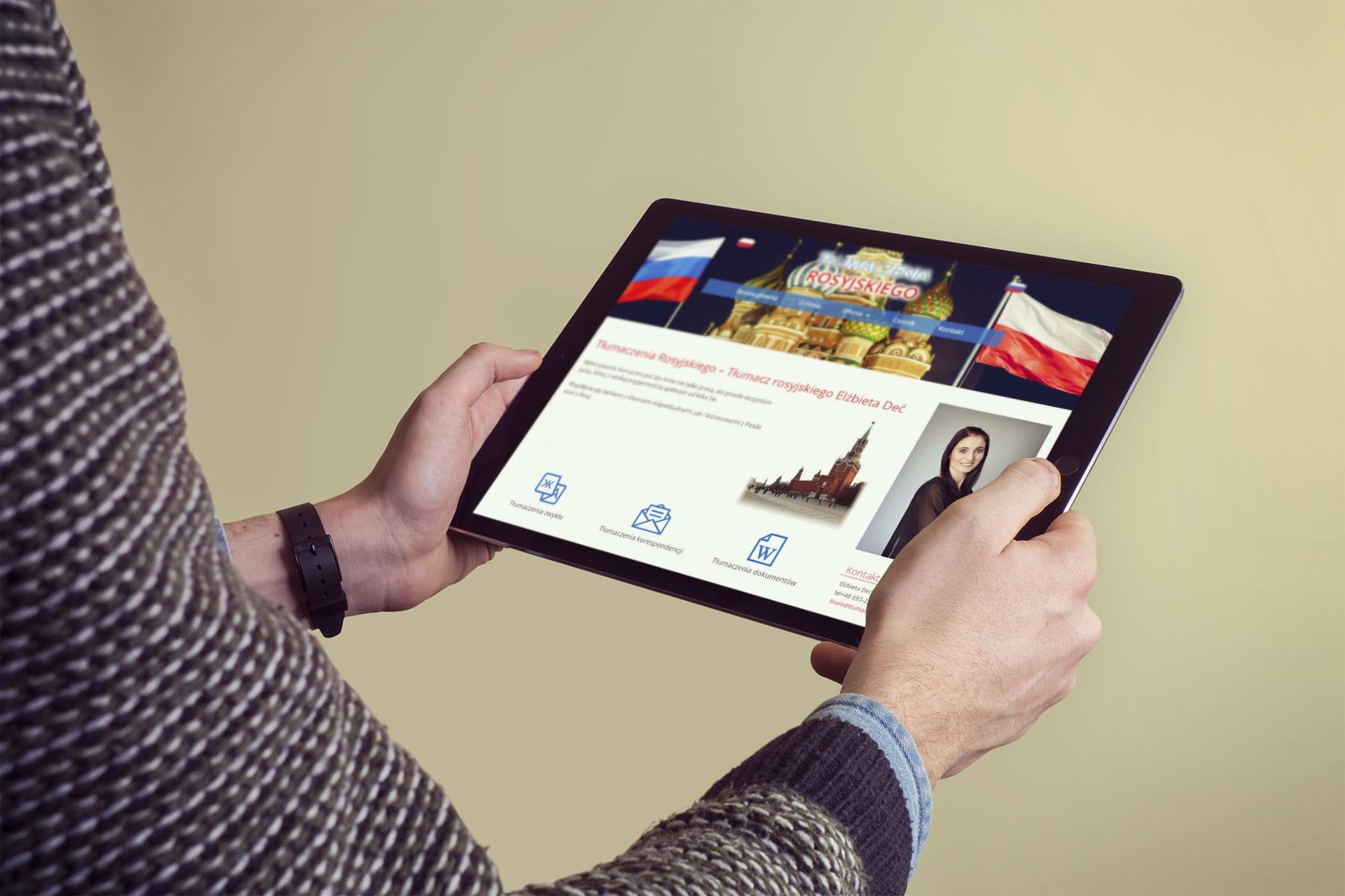 Strona internetowa dla tłumacza języka rosyjskiego