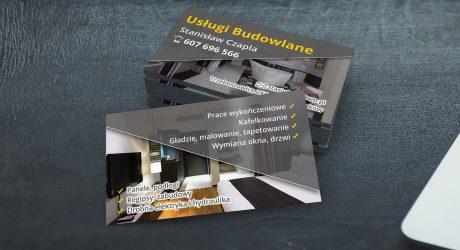 wizytówka dla firmy budowlanej