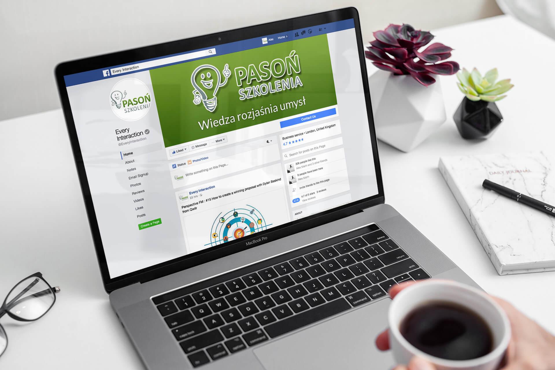 konto facebook dla firmy szkoleniowej