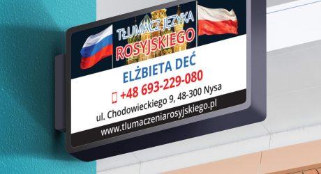 naklejka dla tłumacza języka rosyjskiego