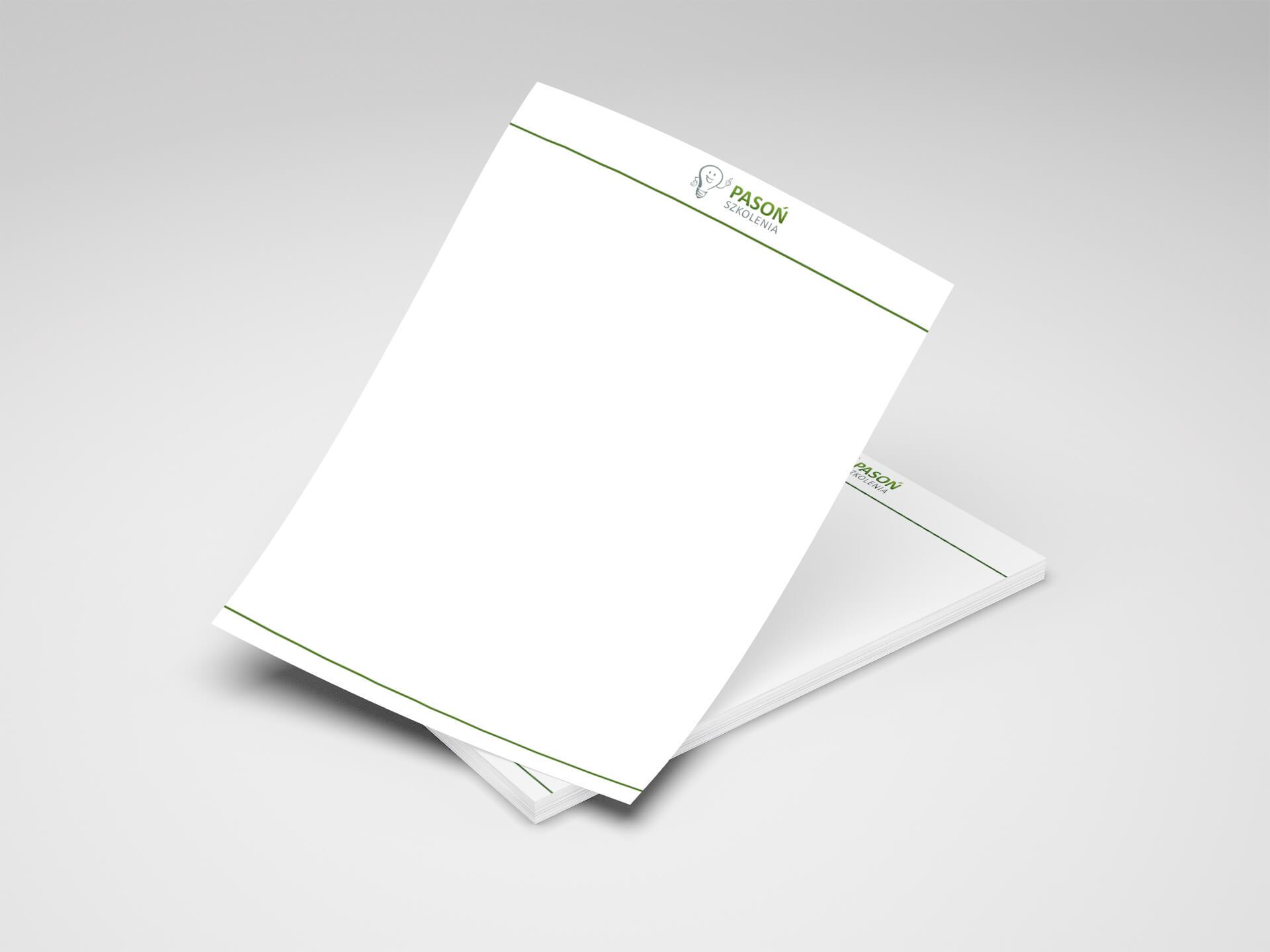 papier firmowy dla firmy szkoleniowej