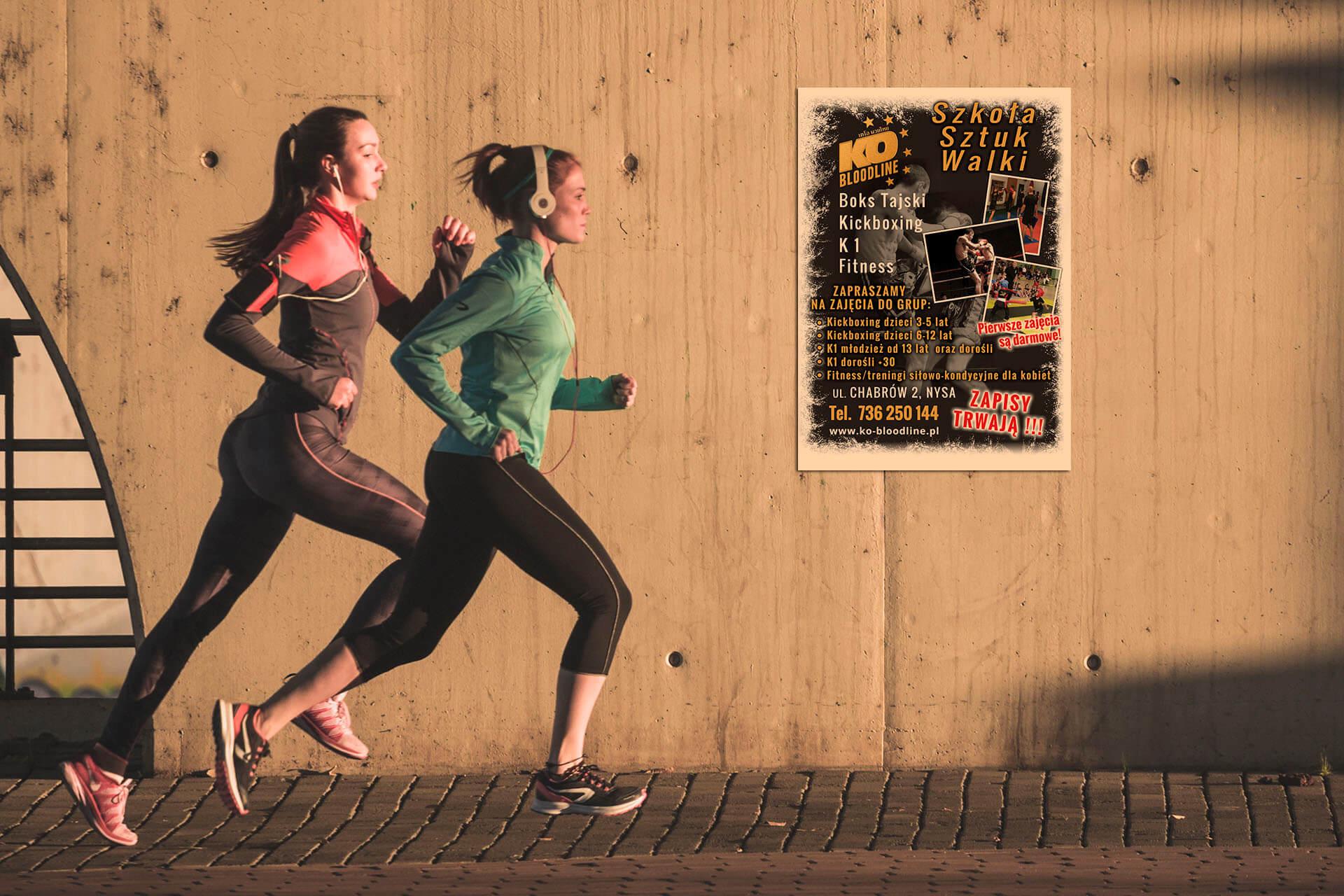 Plakat Dla Szkoły Sztuk Walki Tworzenie Stron Www