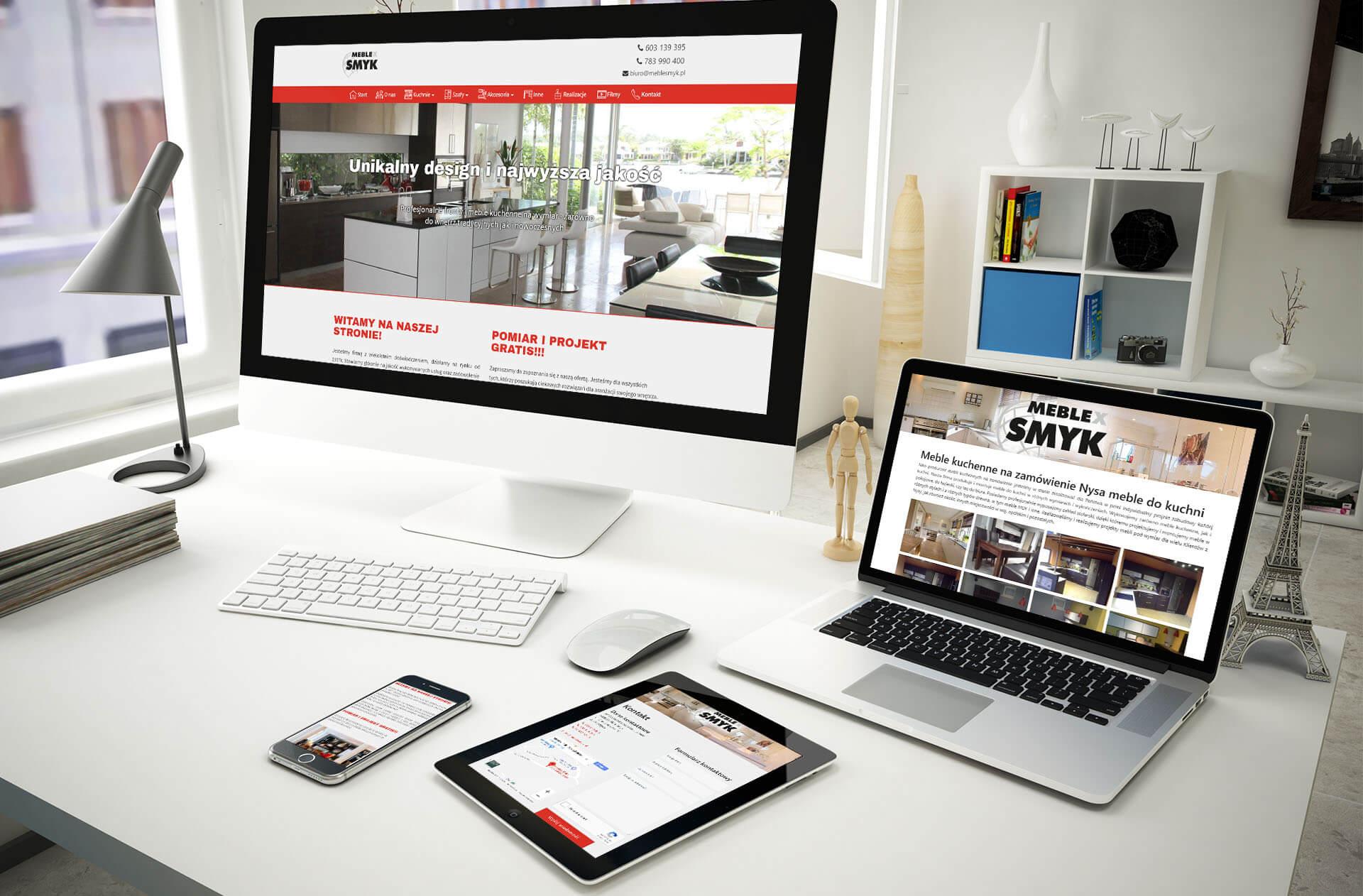 strona internetowa dla sklepu meblowego
